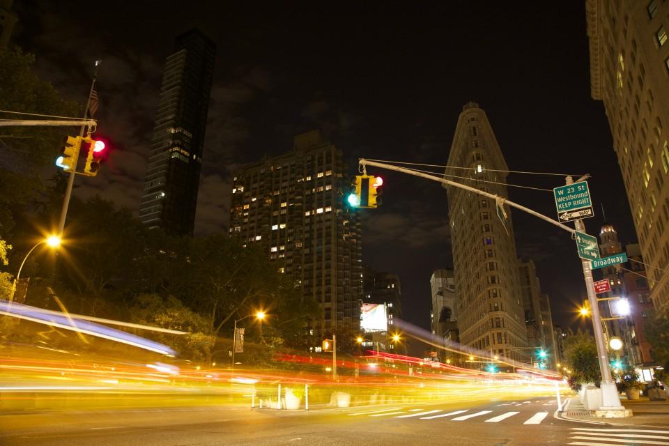 Traffic timelapse New York City